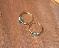Small Cartilage Earrings Blue Beaded Nose Ring Nose Hoop