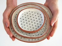 Set of Three Handmade Tapas Plates Ceramic Plate Set