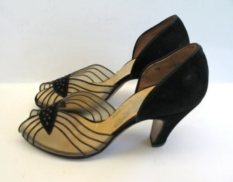 Vintage 1940s Beaded Evening Shoes - 5.5