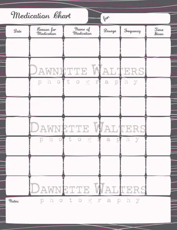 printable medication schedule