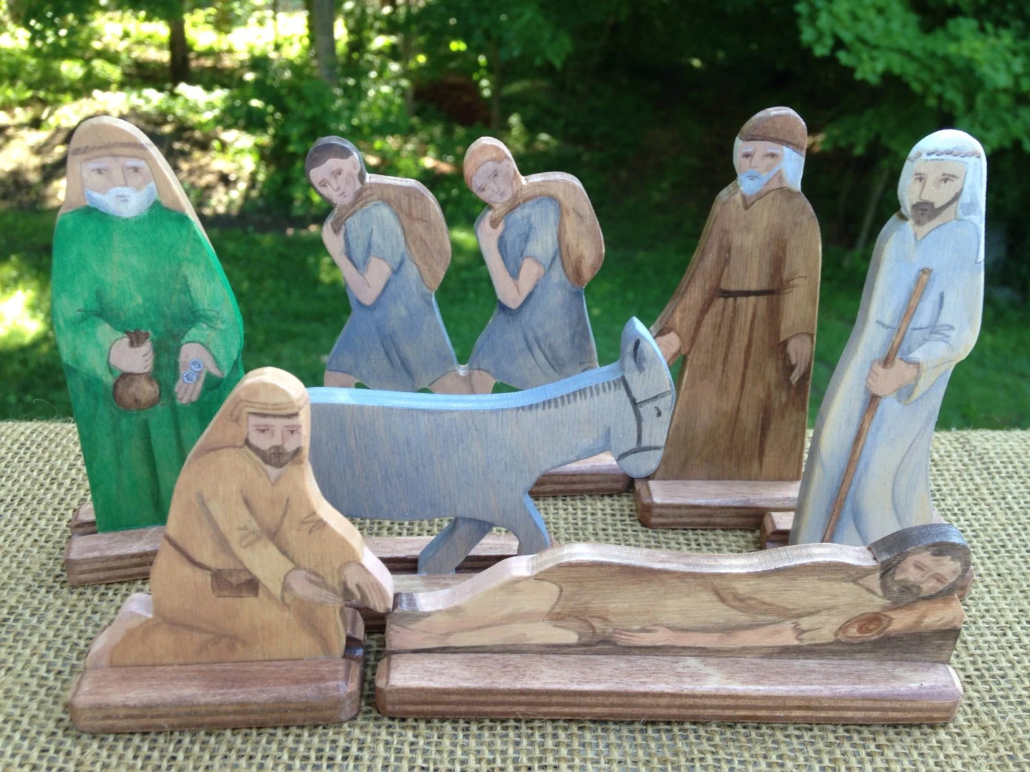 The Good Samaritan Wood Figures