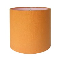 SALE Drum Lamp Shade Lampshade Orange Textured Fabric Ready