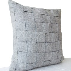 Grey Christmas Chair Covers Windsor Back Felt Pillowcases Weave Pillows Throw Pillow By