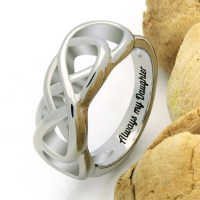 Double Infinity Daughter Ring Promise Ring Always My by Tzaro