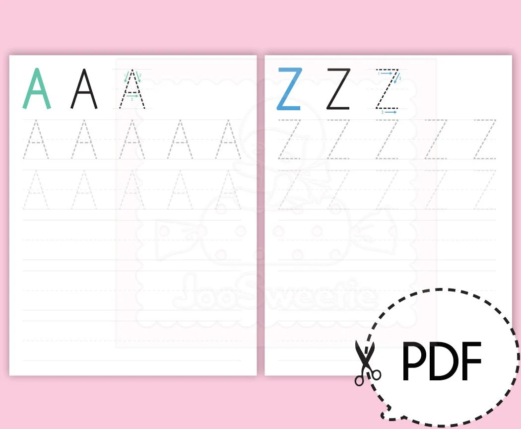 Uppercase A To Z Writing Practice Sheets Printable