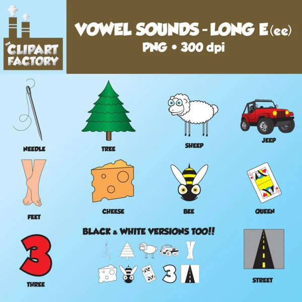 Long Vowel Sound Words with E