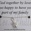 Card step daughter gift tied together by love personalized gift