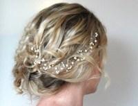 Pearl Crystal Hair Vine Wedding Hair AccessoriesWeddding