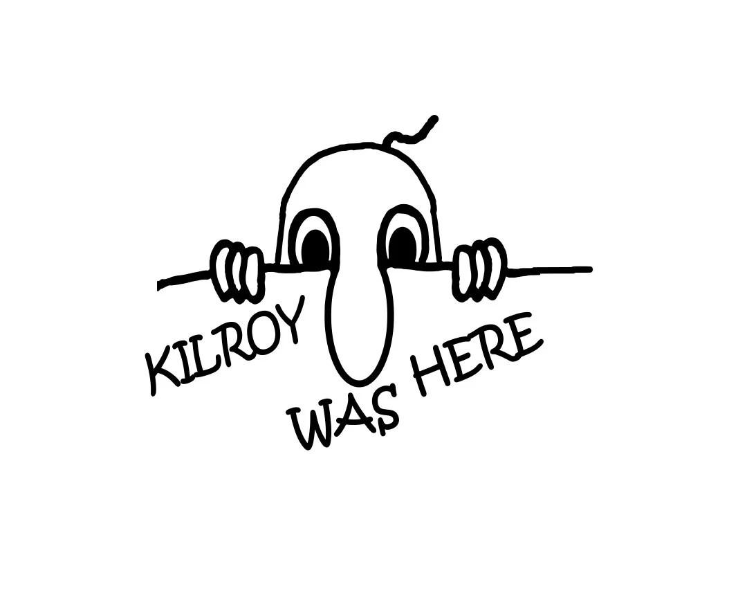 Kilroy was here WWII WW2 Graffiti Vinyl Decal Sticker by