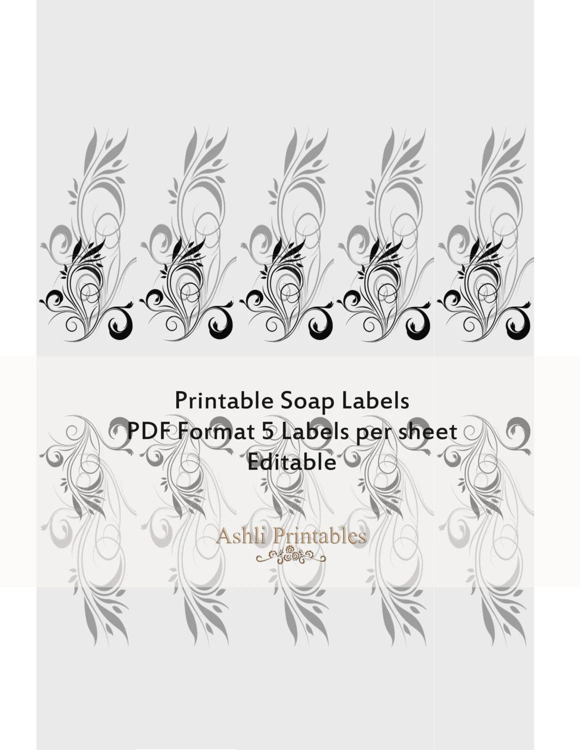 Items similar to Printable Soap Labels Wraps Instant
