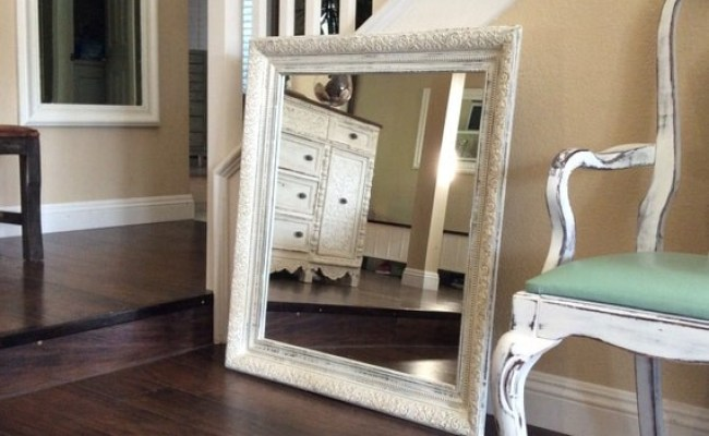 Large Ornate White Mirror For Sale Shabby Chic Wall Mirror