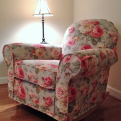 Slipcover For Glider Rocking Chair Christmas Covers At Costco Custom Pottery Barn Dream Swivel Made