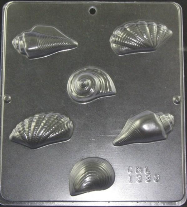 Seashells Sea Shells Chocolate Candy Mold 1333