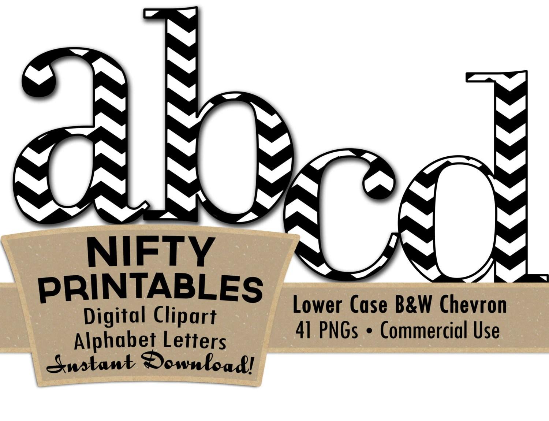 Lower Case Black And White Chevron Clip Art Alphabet Letter