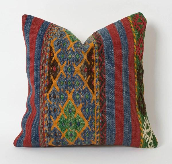 Turkish Kilim Pillow Covers Throw Pillows Bohemian
