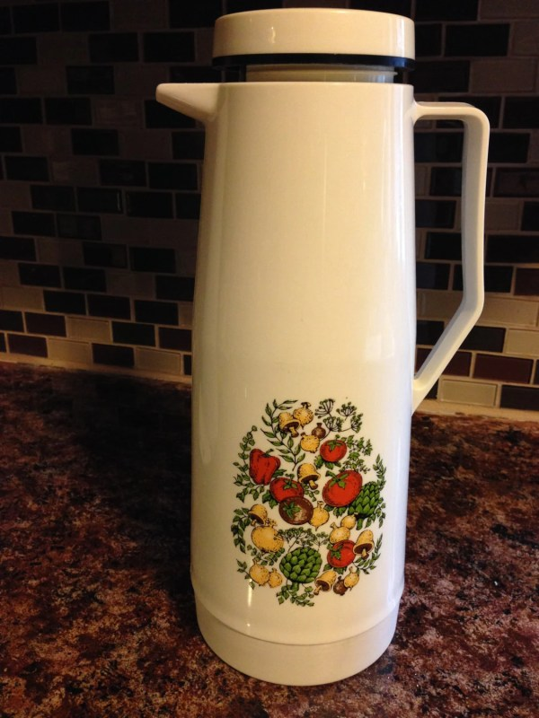 Thermos Corning Ware Spice Of Life Pattern Vintage 70'