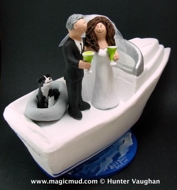 Boating Wedding Cake Topper - Yachting
