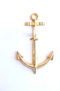 Solid Brass Anchor Wall Decor
