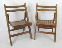 Vintage Pair of Childrens Lobeco Mid Century Wood Folding ...
