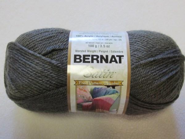 Bernat Satin 100 Acrylic Yarn Color Grey Mist Heather