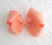 peach light coral hair bow toddler