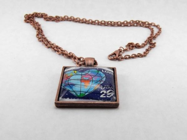 Heart Globe Shaped Earth Love World -96