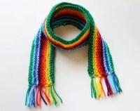 Green kids scarf | Etsy
