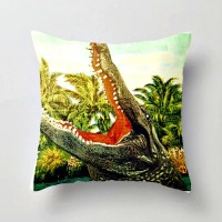 Retro Alligator Pillow Cover Alligator Nursery Decor Florida