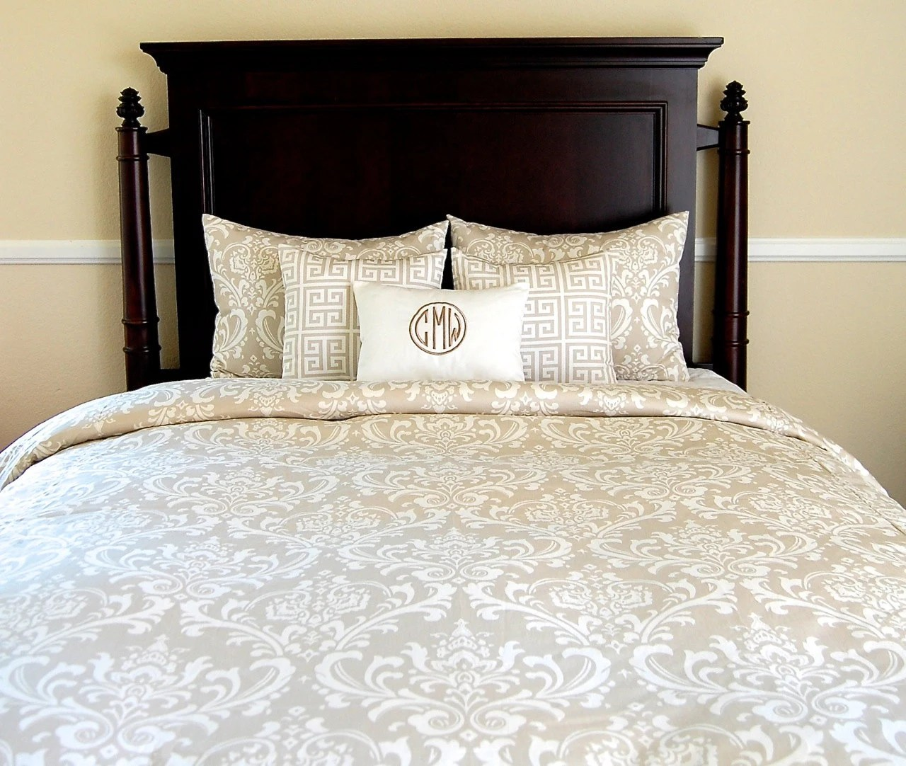Queen Duvet Cover Last One Tan Damask Tan Bedding Queen
