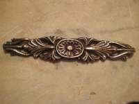Antique Furniture Trim Cast Brass Floral Design Restoration