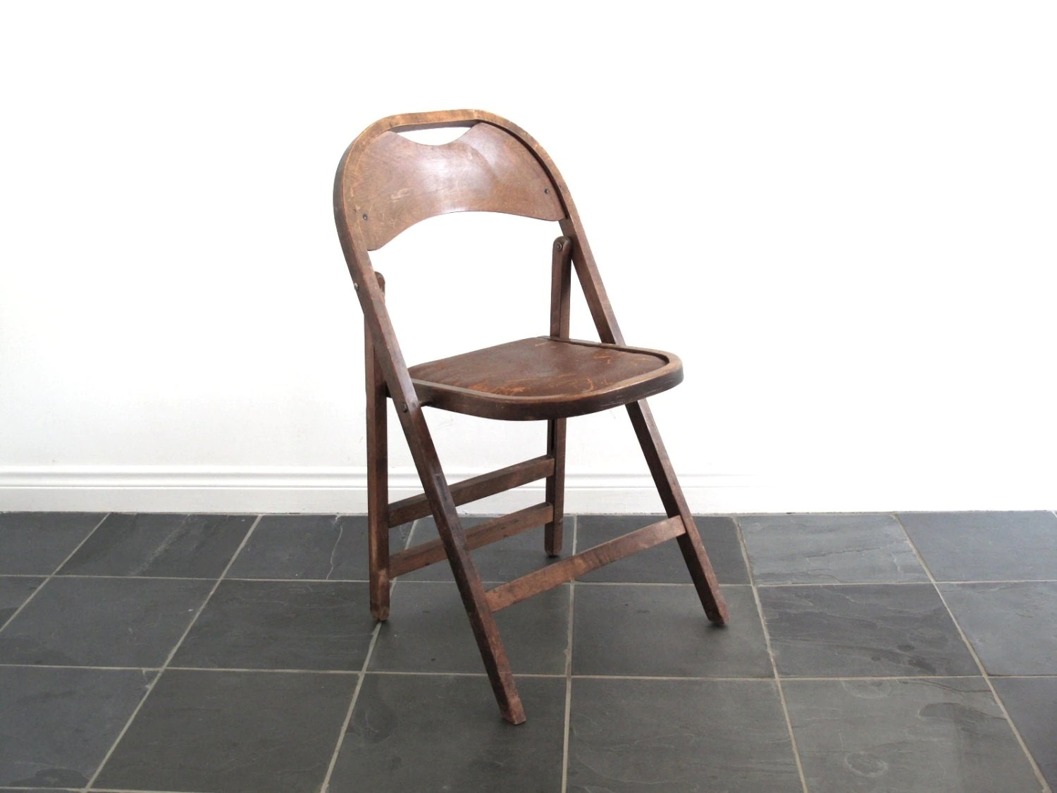 Antique Wooden Chair Antique Wood Folding Chair Wood Art Deco By Snapshotvintage