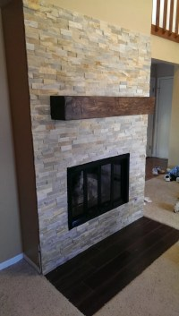 Custom for Magaly006 Floating Mantel beam rustic