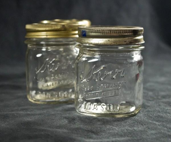 Kerr Square Pint Mason Jar Sealing Vintage