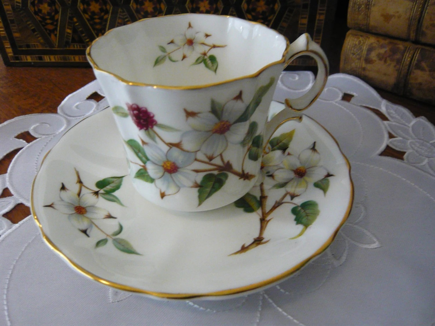 Vintage Hammersley Amp Co Bone China DOGWOOD BLOSSOM Cup And