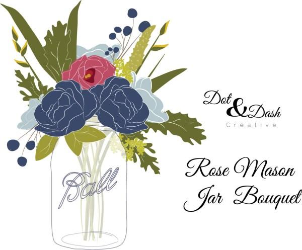 items similar rose mason jar
