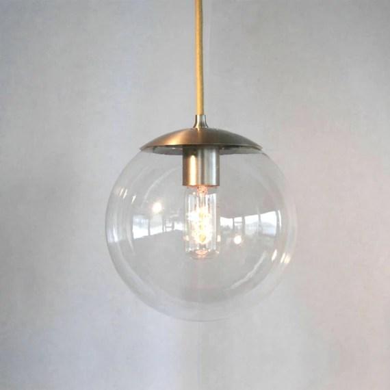 Mid Century Modern Clear 8 Globe Pendant Light by
