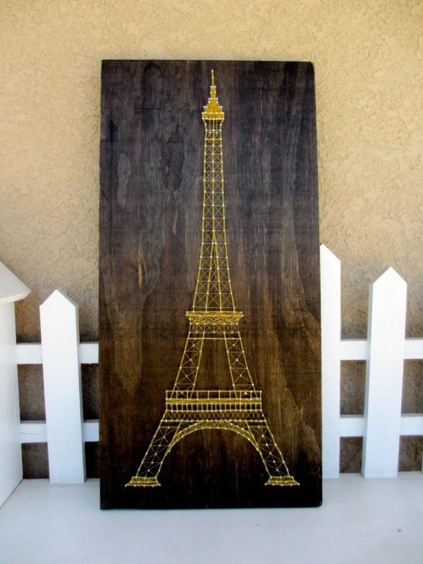 Eiffel Tower String Art Cherishbynicole