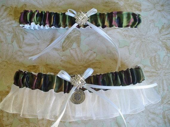 Items Similar To Camouflage Wedding Garter Set, Camo Army