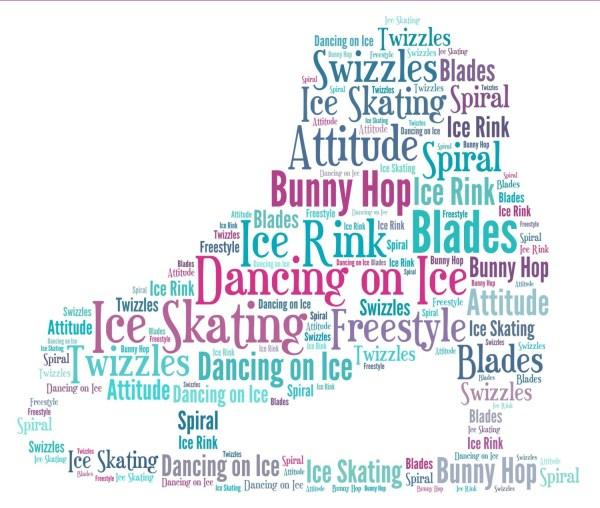 Ice Skate Boot personalised word art