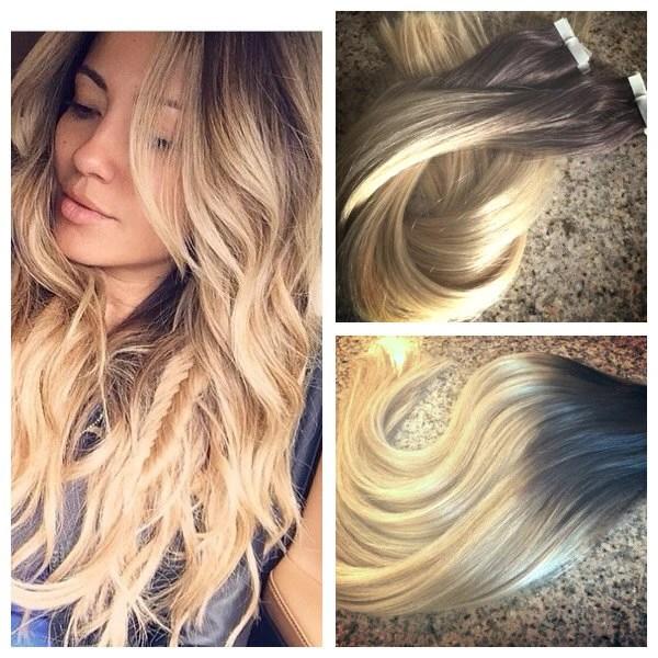 5 Star Ombre Balayage Cuticle Remy Human Hair Keratin Fusion