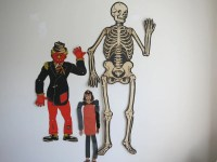 Vintage Set Of Three Halloween Decorations Wall by
