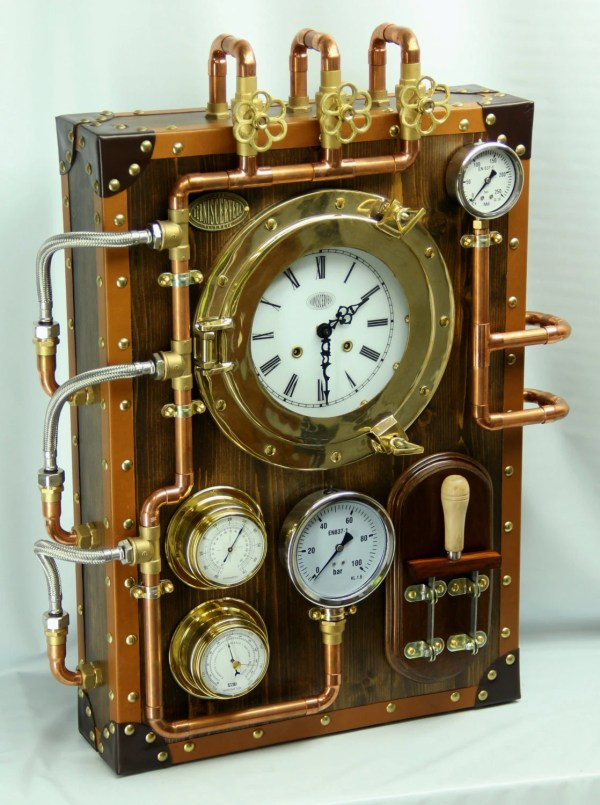 Industrial Steampunk Wall Clock