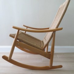 String Chair Seat Leather Reading Reserved Mid Century Modern Danish Rope Rocking Hans