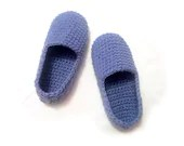 grey blue crocheted slippers, cozy woman house slippers, christmas gift, friend gift, size 5 6 7 8 9 10 11 12 - ukraisa