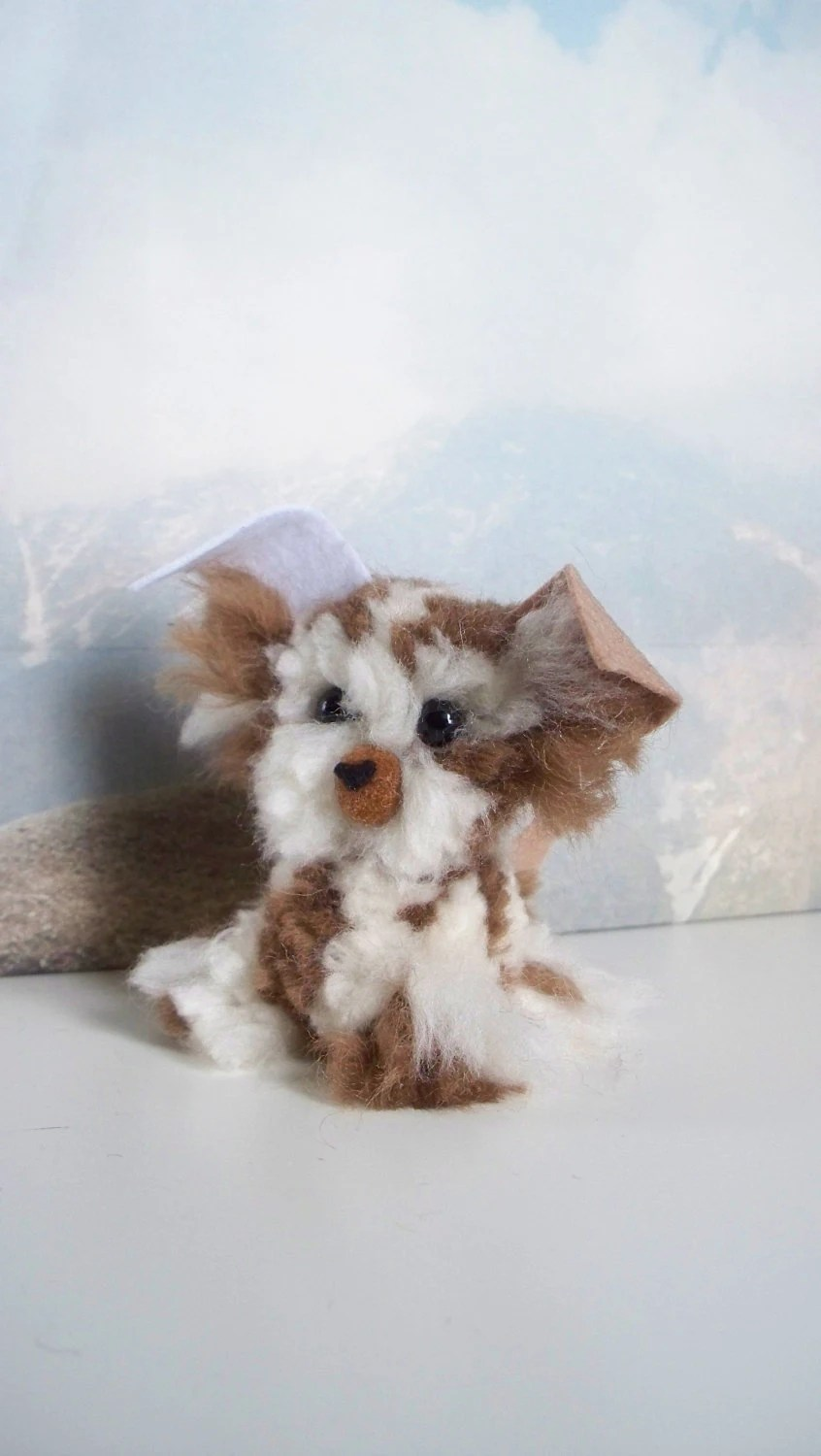 Australian Shepherd Yarn PomPom Puppy by YuriandYanvar on