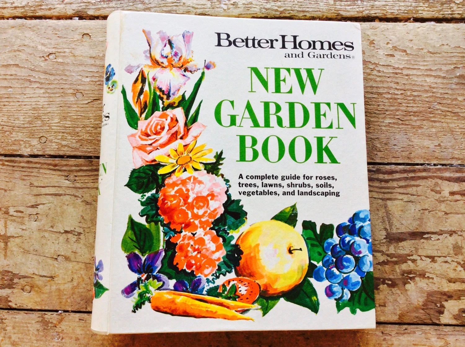 Vintage Better Homes And Gardens Garden Book Guide For Roses