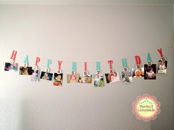 Milestone Banner 1 St Birthday Decoration