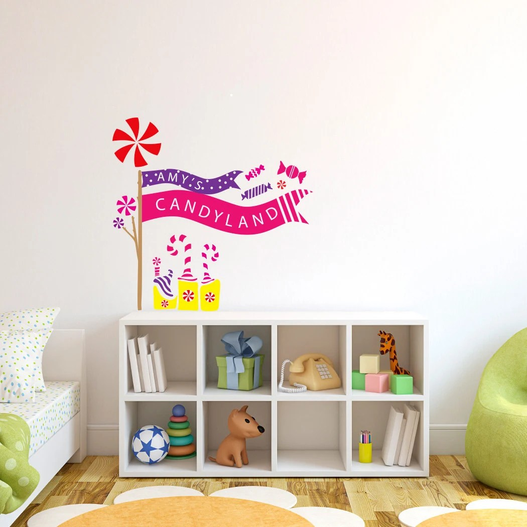 Candy Castle Candyland Giant Wall Decals Best Princess Theme Wall ...