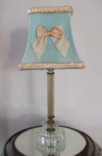 Vintage Clip on Shabby Chic Celluloid Lamp Shade