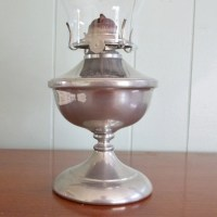 Vintage pewter oil lamp Risdon Mfg P&A Danbury CT with